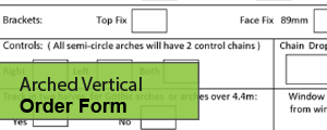 Arched Vertical Order form